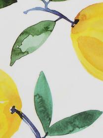 Untersetzer Lemons mit Zitronen-Motiv, 4 Stück, Kork, beschichtet, Weiß, Gelb, Grün, Ø 12 cm