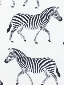 Kissenhüllen Marty mit Zebramotiv, 2er-Set, 100% Baumwolle, Beige, 40 x 40 cm