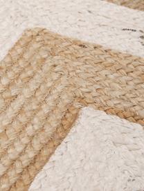 Zerbino in juta fatto a mano Eckes, 100% juta, Beige, bianco, Larg. 50 x Lung. 80 cm