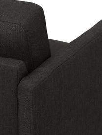 Bank Fluente (2-zits), Bekleding: 100% polyester, Frame: massief grenenhout, Poten: gepoedercoat metaal, Geweven stof donkergrijs, B 166 x D 85 cm