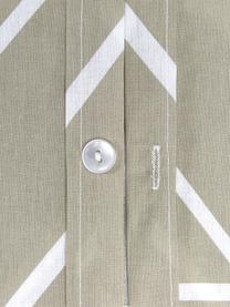 Baumwoll-Kopfkissenbezüge Mirja mit grafischem Muster, 2 Stück, Webart: Renforcé Fadendichte 144 , Taupe, Cremeweiß, 40 x 80 cm
