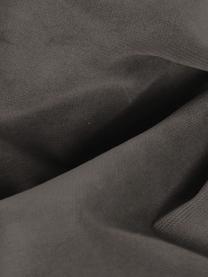 Canapé d'angle velours brun Moby, Velours brun-gris
