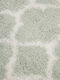 Chodnik z wysokim stosem Mona, Miętowozielony, kremowobiały, S 80 x D 250 cm