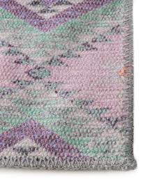 Tapis de couloir kilim réversible Ana, Rose, multicolore
