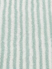 Gestreiftes Handtuch Viola, 100% Baumwolle, mittelschwere Qualität 550 g/m², Mintgrün, Cremeweiß, Gästehandtuch
