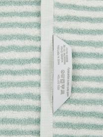 Serviette de toilette coton pur à rayures Viola, Vert menthe, blanc crème