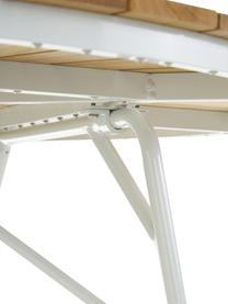 Runder Gartentisch Hard & Ellen mit Teakholzplatte, Tischplatte: Teakholz, geschliffen, Teak, Weiß, Ø 130 x H 73 cm