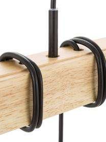 Lampada a sospensione in legno Townshend, Struttura: legno di albero della gom, Baldacchino: acciaio verniciato, Nero, legno, Larg. 100 x Prof. 10 cm