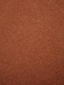 Poggiapiedi da divano in tessuto terracotta Lennon, Rivestimento: 100% poliestere Il rivest, Struttura: legno di pino massiccio, , Piedini: materiale sintetico I pie, Tessuto colore terracotta, Larg. 88 x Alt. 43 cm