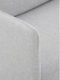 Divano angolare in tessuto grigio chiaro Ramira, Rivestimento: poliestere 40.000 cicli d, Struttura: legno di pino massiccio, , Piedini: metallo, verniciato a pol, Tessuto grigio chiaro, Larg. 192 x Prof. 136 cm