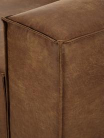 Modulares Ecksofa Lennon in Braun aus recyceltem Leder, Bezug: Recyceltes Leder (70% Led, Gestell: Massives Kiefernholz, Spe, Füße: Kunststoff, Leder Braun, B 238 x T 180 cm