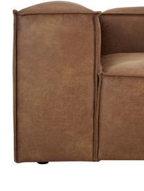 Canapé d'angle modulable cuir recyclé Lennon, Cuir brun