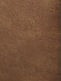 Divano angolare componibile in pelle riciclata Lennon, Rivestimento: pelle riciclata (70% pell, Struttura: legno di pino massiccio, , Piedini: plastica I piedini si tro, Pelle marrone, Larg. 238 x Prof. 180 cm