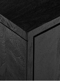 Enfilade bois massif Luca, Corps: noir, laqué Structure: noir, mat