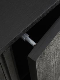 Credenza in legno nero massiccio Luca, Piedini: metallo verniciato a polv, Marrone, Larg. 90 x Alt. 83 cm