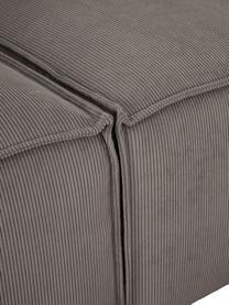 Modulare Ottomane Lennon in Braun aus Cord, Bezug: Cord (92% Polyester, 8% P, Gestell: Massives Kiefernholz, Spe, Füße: Kunststoff Die Füße befin, Cord Braun, B 269 x T 119 cm
