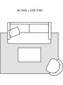 Hoogpolig vloerkleed Velma in crèmewit/donkergrijs, Bovenzijde: 100% polypropyleen, Onderzijde: 78% jute, 14% katoen, 8% , Crèmewit, donkergrijs, B 300 x L 400 cm (Maat XL)