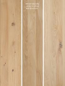 Sitzbank Oliver aus Eichenholz, Sitzfläche: Wildeichenlamellen, massi, Beine: Metall, pulverbeschichtet, Wildeiche, Schwarz, 200 x 45 cm