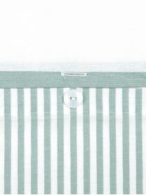 Parure copripiumino reversibile in cotone ranforce Lorena, Tessuto: Renforcé, Verde salvia, bianco, 255 x 200 cm