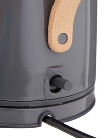 Wasserkocher Emma in Grau glänzend, Griff: Buchenholz, Grau, 1.2 L