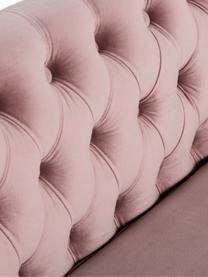 Chesterfield-Samt-Sofa Chiara (2-Sitzer) in Rosa, Bezug: Samt (Polyester) 20.000 S, Gestell: Massives Birkenholz, Füße: Metall, galvanisiert, Samt Rosa, B 170 x T 72 cm