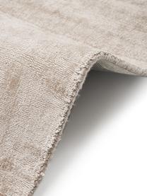 Handgewebter Viskoseteppich Jane in Beige, Flor: 100% Viskose, Beige, B 80 x L 150 cm (Größe XS)