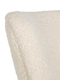 Teddy loungefauteuil Moritz met armleuningen, Zitvlak: polyester, Crèmekleurig, B 67 x D 74 cm