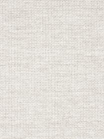 Hoekbank Emma in crèmewit met metalen poten, Bekleding: polyester, Frame: massief grenenhout, Poten: gepoedercoat metaal, Geweven stof crèmewit, poten zwart, B 302 x D 220 cm