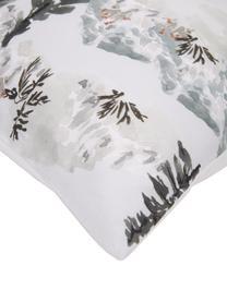 Designer Perkal-Bettwäsche Forest aus Bio-Baumwolle von Candice Gray, Webart: Perkal Fadendichte 180 TC, Mehrfarbig, 135 x 200 cm + 1 Kissen 80 x 80 cm