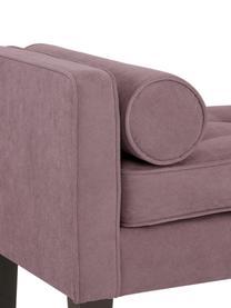 Bettbank Mia mit Kissen, Bezug: 92% Polyester, 8% Nylon, Beine: Birkenholz, lackiert, Bezug: Pflaume Beine: Schwarz, 115 x 61 cm
