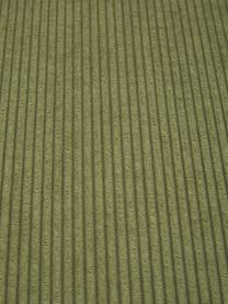 Divano angolare componibile in velluto a coste verde Lennon, Rivestimento: velluto a coste (92% poli, Struttura: legno di pino massiccio, , Piedini: plastica I piedini si tro, Velluto a coste verde, Larg. 238 x Prof. 180 cm