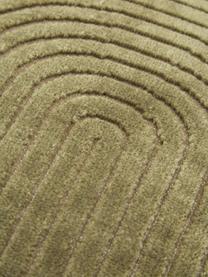 Fluwelen kussenhoes Carraway met structuurpatroon, Groen, 30 x 50 cm