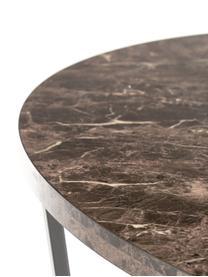 Table ronde aspect marbre Amble, Brun, marbré, noir