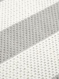 Tappeto grigio/bianco a righe da interno-esterno Axa, 86% polipropilene, 14% poliestere, Bianco crema, grigio, Larg. 200 x Lung. 290 cm  (taglia L)