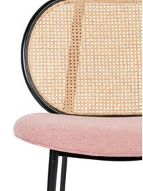 Sedia a poltrona con intreccio viennese Spike, Rivestimento: poliestere 100.000 cicli , Gambe: metallo verniciato a polv, Beige, rosa, Larg. 79 x Prof. 70 cm