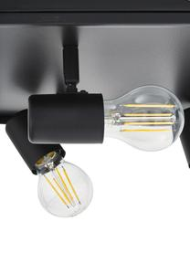 Plafondlamp Silentina in industrieel design, Gepoedercoat staal, Zwart, 36 x 21 cm