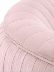 Fotel koktajlowy z aksamitu Cara, Tapicerka: aksamit (poliester) Dzięk, Nogi: metal powlekany, Aksamitny jasny różowy, S 76 x G 75 cm