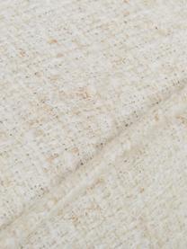 Divano 3 posti in tessuto bianco crema Gatsby, Rivestimento: Bouclé (70% poliestere, 2, Struttura: legno di eucalipto massic, Piedini: metallo zincato, Bouclé beige, Larg. 245 x Prof. 102 cm