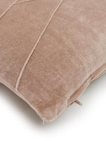 Coussin 45x45 velours Pintuck, Vieux rose