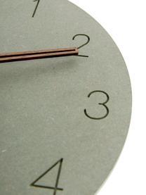 Orologio da parete Dura, Pannello di fibra a media densità (MDF), Verde, ottone, Ø 29 x Prof. 3 cm