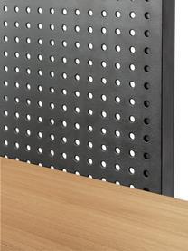 Regał industrial z drewna i metalu Nadyria, Stelaż: metal lakierowany, Czarny, ciemny brązowy, S 100 x W 180 cm