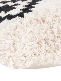 Boho Kissenhülle Taima, 100% Baumwolle, Ecru, Schwarz, 30 x 50 cm