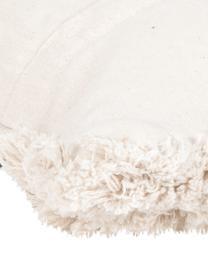 Federa arredo boho Taima, 100% cotone, Beige, nero, Larg. 30 x Lung. 50 cm