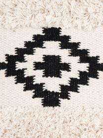 Boho kussenhoes Taima, 100% katoen, Ecru, zwart, 30 x 50 cm