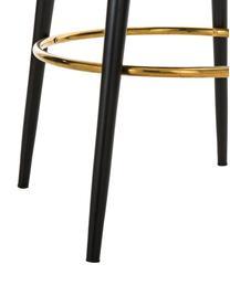 Samt-Barstuhl Rachel, Bezug: Samt (Polyester) 50.000 S, Beine: Metall, pulverbeschichtet, Samt Dunkelblau, 48 x 110 cm
