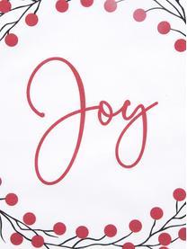 Set 2 federe arredo con stampa invernale Joy, Cotone, Rosso, bianco, nero, Larg. 40 x Lung. 40 cm