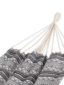 Hamak z bawełny Raissa, 65% bawełna, 35% poliester, Szary, biały, S 150 x D 200 cm