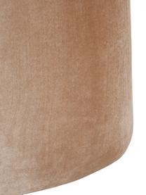 Glänzender Samt-Hocker Cloe, Bezug: Polyestersamt, glänzend, Gestell: Mitteldichte Holzfaserpla, Beige, B 80 x T 50 cm