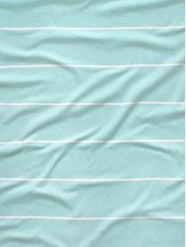 Gestreiftes Hamamtuch Frottier mit Fransen, Vorderseite: 100% Baumwolle, ca. 300 g, Rückseite: 100% Baumwolle, ca. 300 g, Webart: Frottier, Hellblau, Mehrfarbig, 90 x 180 cm