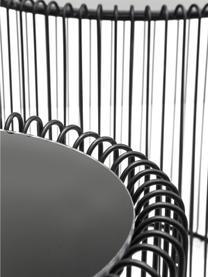 Metall-Beistelltisch 2er-Set Wire mit Glasplatte, Gestell: Metall, pulverbeschichtet, Tischplatte: Sicherheitsglas, foliert, Schwarz, Sondergrößen